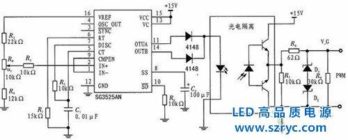 图5:sg3525及其外围电路