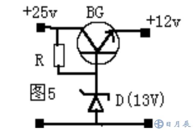 由硅稳压管组成的简单稳压电路如图,这个电路是怎样进行稳压的呢?    分析:若电网电压升高,整流电路的输出电压Usr 也随之升高,引起负载电压Usc 升高。由于稳压管DW与负载Rfz 并联,Usc 只要有根少一点增长,就会使流过稳压管的电流急剧增加,使得I1也增大,限流电阻R1上的电压降增大,从而抵消了Usr 的升高,保持负载电压Usc 基本不变。反之,若电网电压降低,引起Usr 下降,造成Usc 也下降,则稳压管中的电流急剧减小,使得I1减小,R1上的压降也减小,从而抵消了Usr 的下降,保持负载电